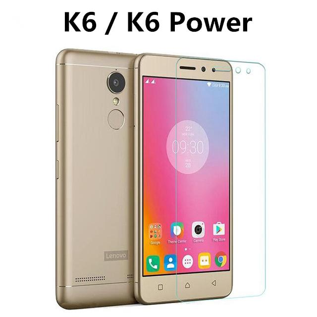 finest selection 3114e 5a8ab Tempered Glass For Lenovo K6 Power K33A42 Case Screen Protector on lenovo  K6 k 6 K33a48 Film Full Cover GLAS Sklo Funda 2.5D 9H