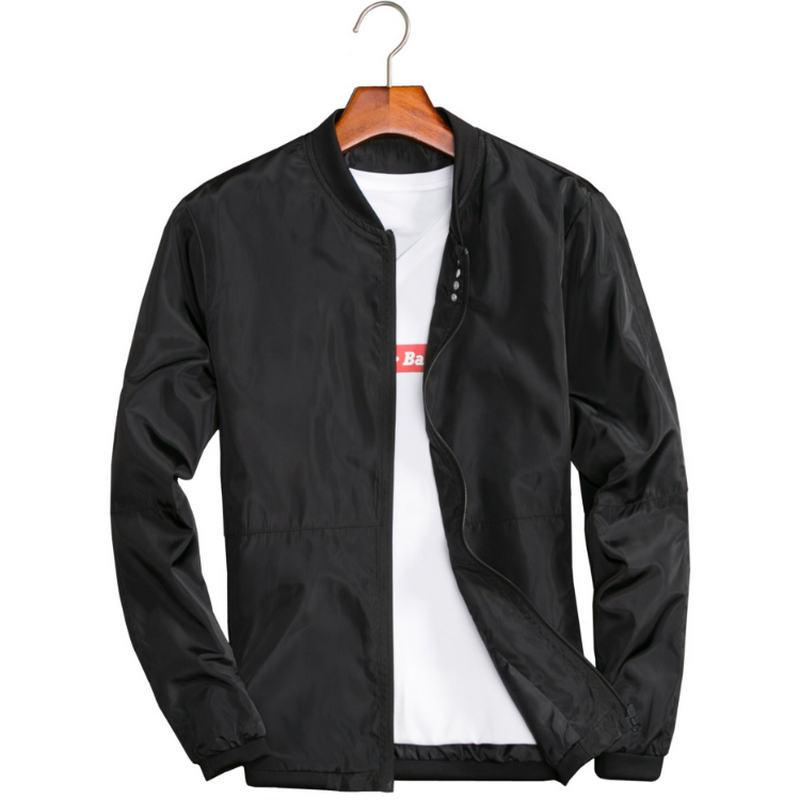 cecadff9acb ... Summer Jackets Casual Thin Male Windbreakers College Bomber Black  Windcheater Hommes Varsity Jacket Clothing Jackets Mens Jackets And Coats  Online From ...