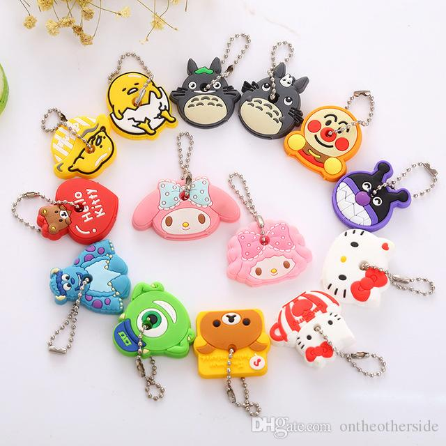 5750df5e168023 Cartoon Cute Key Cover Anime Bear Hello Kitty Totoro Silicone Key Chains  Melody Animal Car Key Rings Keychain Keychains Custom Lanyards From  Ontheotherside, ...