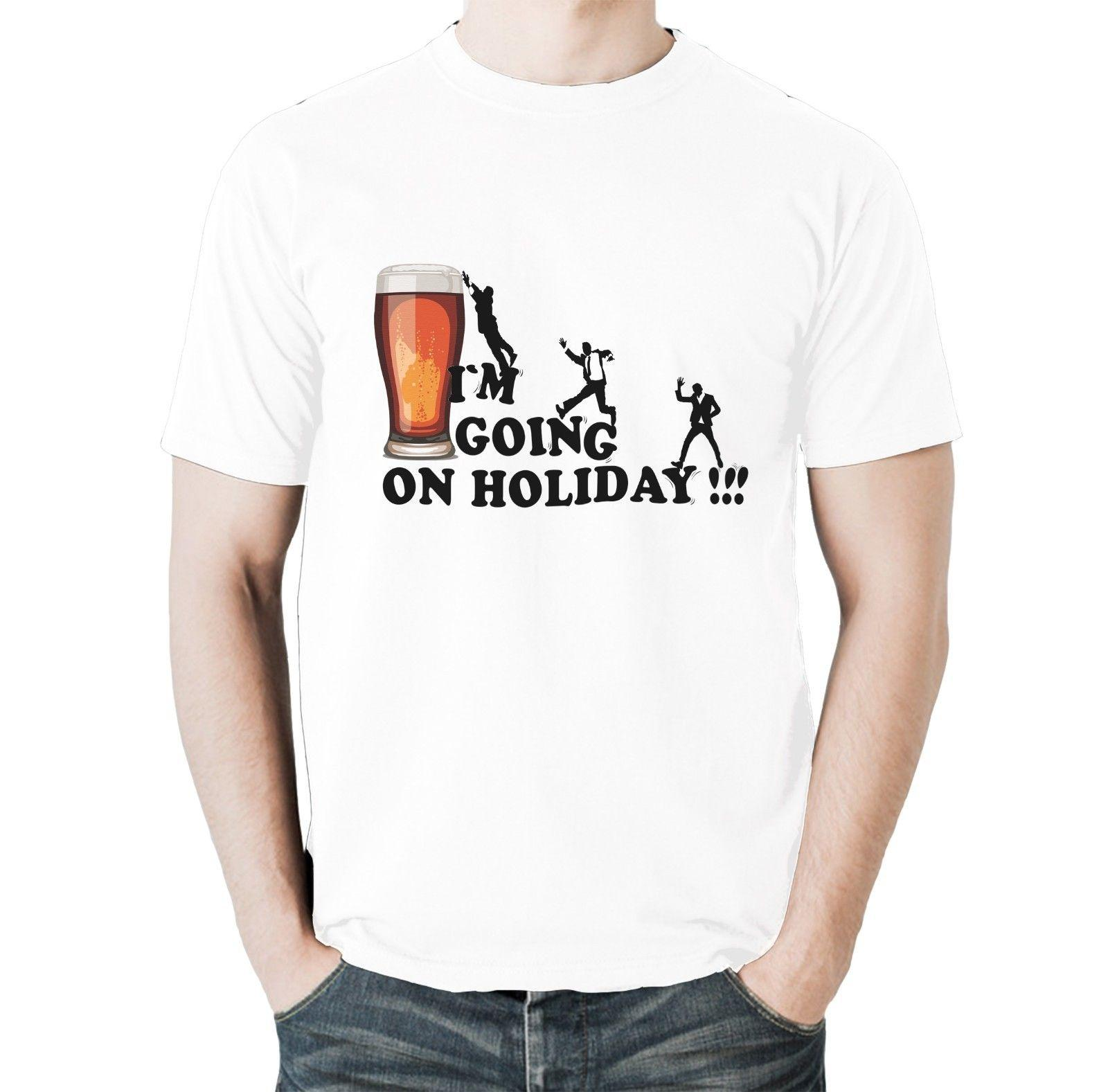 New Funny Drinking T Shirt Im Going On Holiday Birthday Joke Gift Tee Deals Online Shopping Shirts From Designtshirt 1572