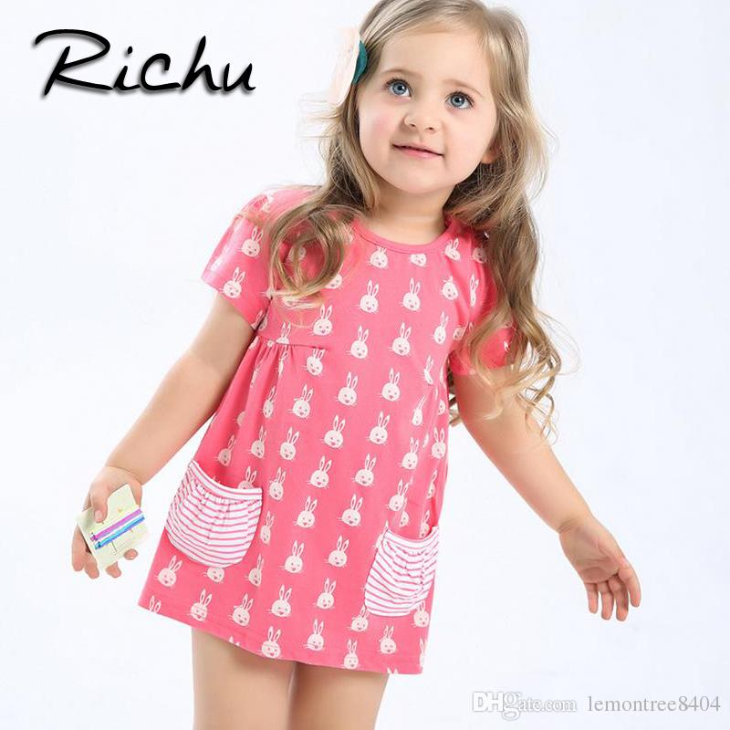 Richu Rabbit Summer Dresses for Girls 6 Years Christmas Costumes for
