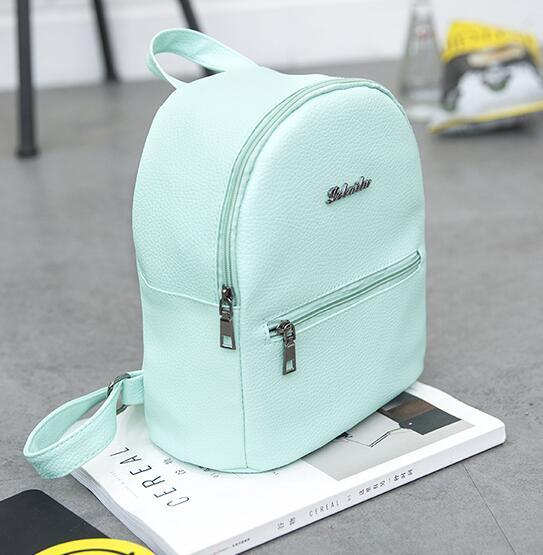 032025e7f161 brands Candy color Backpacks children School Bags For Teenager girls  leather BackPack women girl leisure travel bag