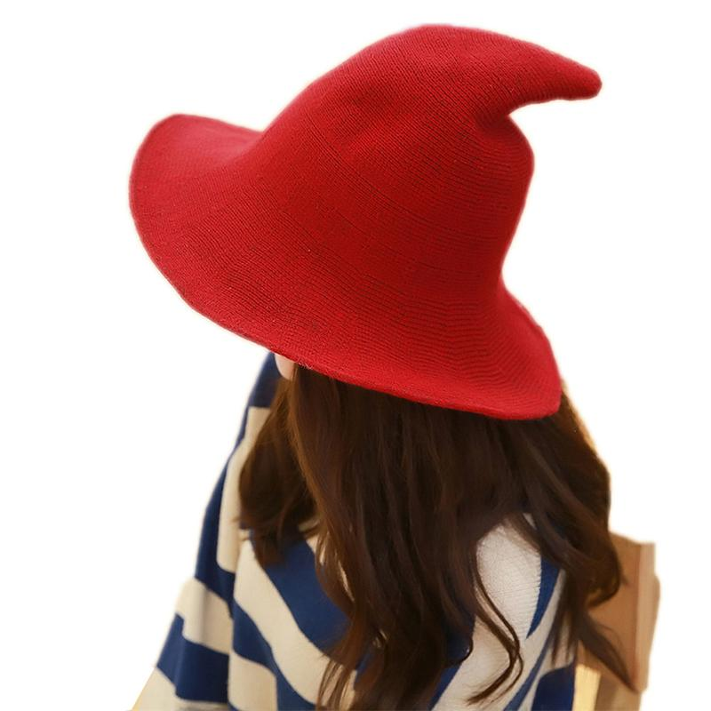 Fisherman Cap Female Fashion Witch Pointed Hat Women U Along The ... d02f532114a