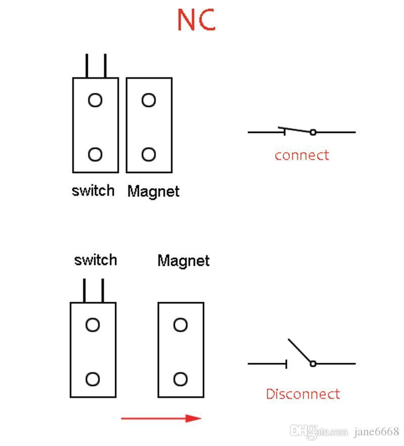 High quality Max 90mm Work distance Wired Rolling Door Alarm Magnetic Switch Window metal Door Open Control Door sensor For