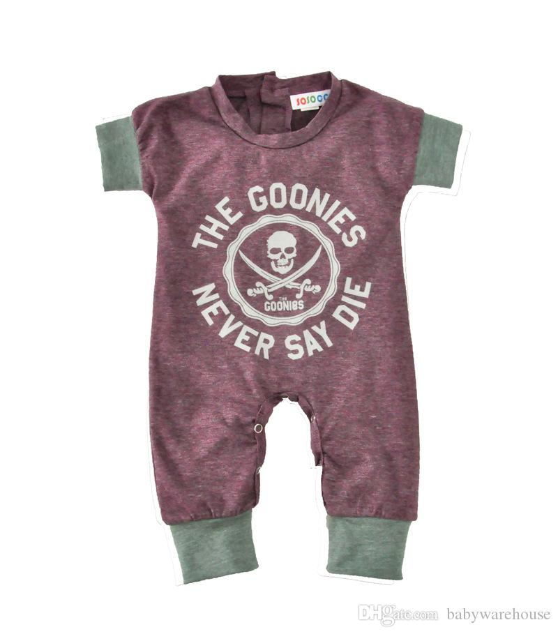 64e1deb48 2019 Newborn Baby Boy Clothes Kids Halloween Costumes Skull Jumpsuit ...