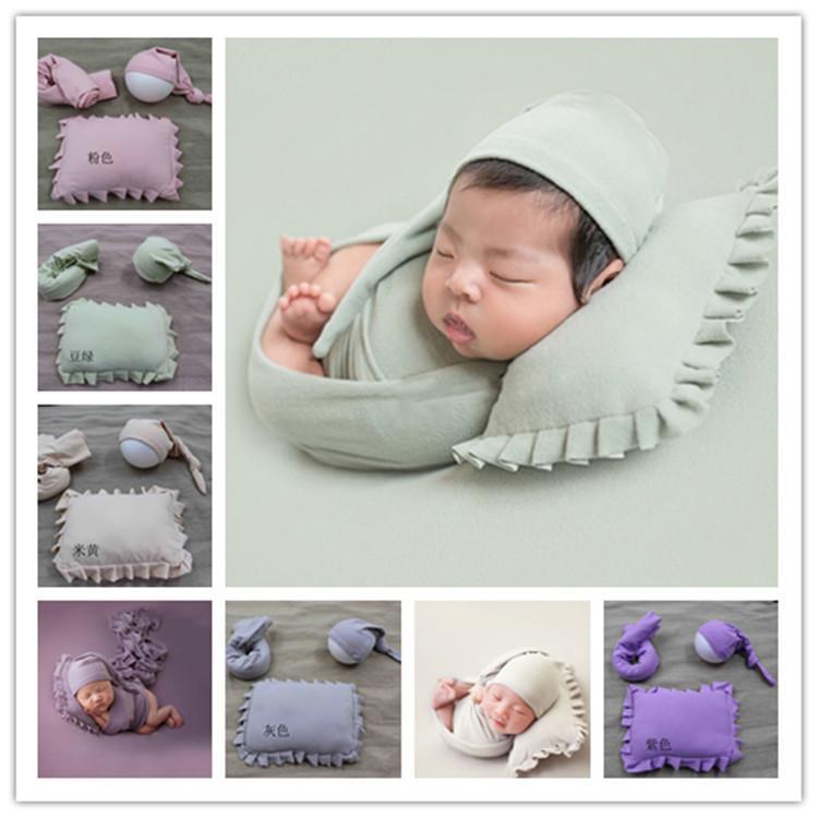 Compre 3 Unids / Set Baby Photograpy Apoyos Con Tapas Manta Almohada ...
