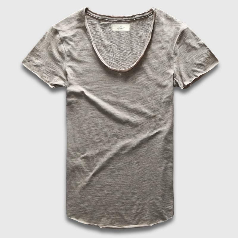 Wholesale Plain Basic Top Tees Men Casual Deep V Scoop Neck T Shirt Male  Slim Fit T Shirt Luxury Curved Hem Navy Tee Muscle Interesting T Shirts T  Shirt Buy ... 95962a0af