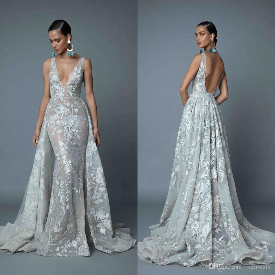 Berta 2019 Mermaid Overskirts Wedding Dresses With