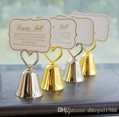 Kissing Bell Place Card Photo Holder Heart Wedding Party Decoration Favors Affordable Candle Favours From