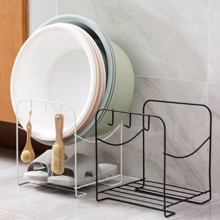 2018 Wrought Iron Floor Washbasin Racks Bathroom Washroom Bathroom ...