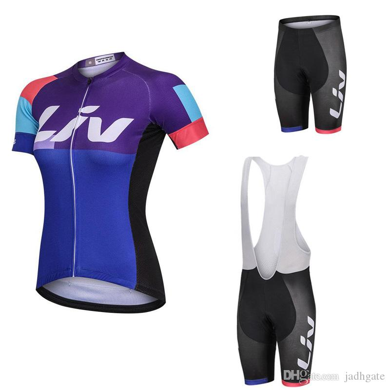 5f3f5d7b7 2018 Liv Team Cycling Short Sleeves Jersey Bib Shorts Sleeveless Vest Sets  Pro Team Women Summer Breathable Cycling Jersey Kit 81506J Road Bike Shorts  ...