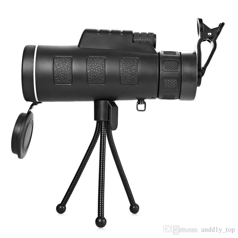 40X60 telescopio monoculare telefono clip Treppiede HD di visione notturna del prisma Campo di applicazione il campeggio di caccia Arrampicata Pesca con la bussola nella vendita al dettaglio