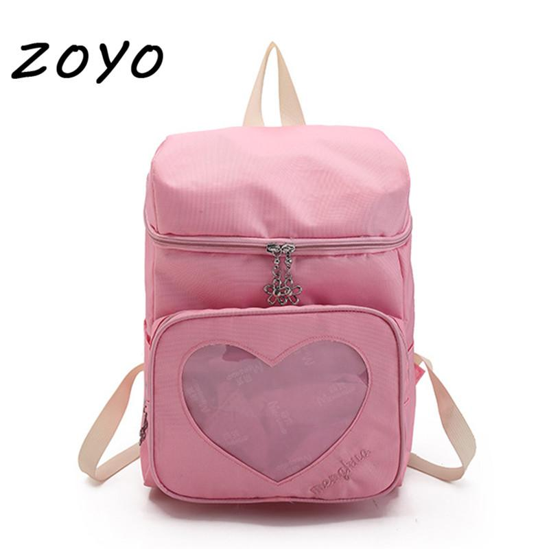 ZOYO Candy Ita Bag Transparent Heart Clear Bags For Women Harajuku Backpacks  School Bags For Girls Cute Kids Purse PVC Backpack Ogio Backpack Ergonomic  ... c4cbc4f024212