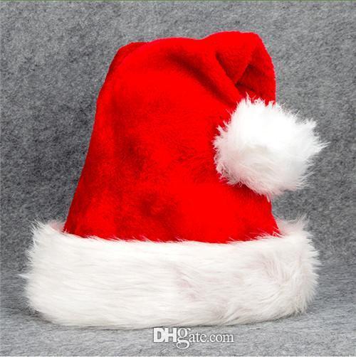Compre Largo Sombrero De Felpa Gorro De Navidad Sombrero De Papá Noel Para  Adultos Suministros Para Fiestas Navideñas Decoraciones Navideñas  Accesorios De ... d86abbe48a4