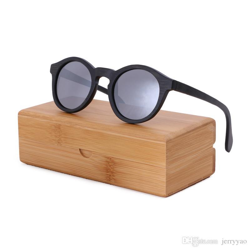 a08b28c0a7 Compre Gafas De Sol De Las Mujeres 2018 Gafas De Sol De Madera Gafas De Sol  De Marca De Bambú Gafas De Sol De Playa Para La Conducción De Gafas De Sol  ...