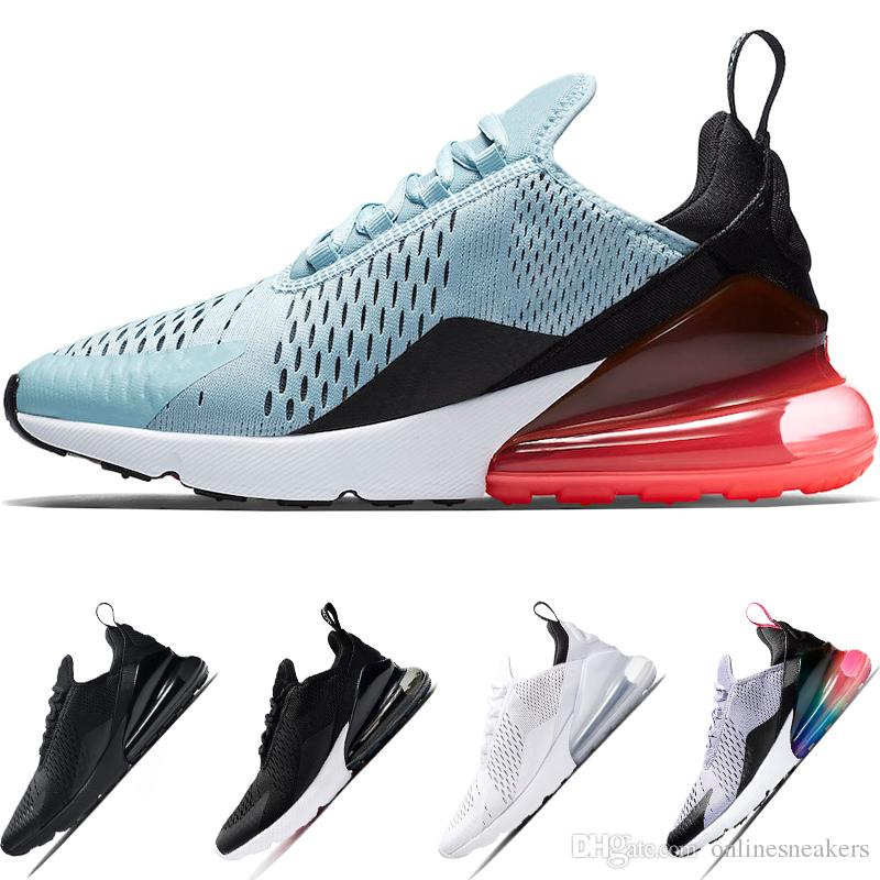 5ee48add7 Cheap 270 Running Shoes Mens Women BE TRUE Oreo Triple White Black ...