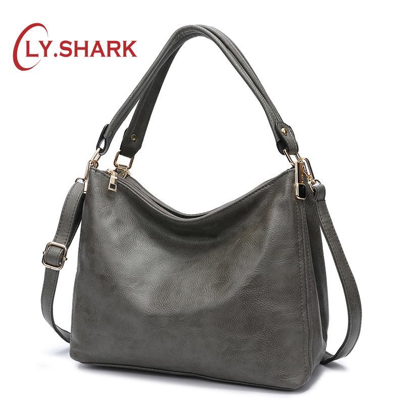 1c80aaa4b55 LY.SHARK Messenger Bag Women 2018 Luxury Handbags Women Bags Designer Bag  Lady PU Leather Crossbody Bags For Female Famous Brand