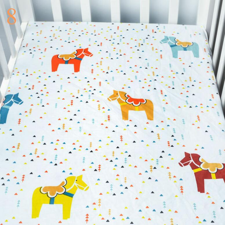 Newborn baby pure cotton portable crib sheet boys and girls best gift bedding sheets set