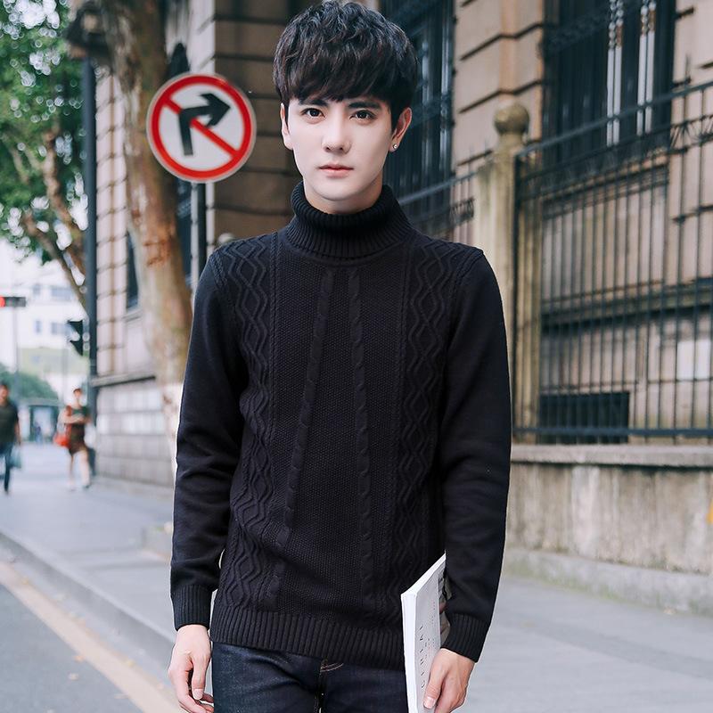 98881dc8b4 British men turtleneck sweaters lapel head set pure korean slim shirt and  sweater uk from manxinxin