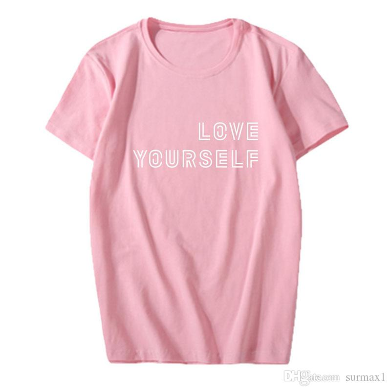 De gran tamaño de manga corta BTS Bangtan Boys fan club última impresión varios colores casual deportes camiseta gran tamaño parejas ropa