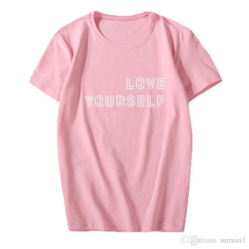 Große Größe Kurzarm BTS Bangtan Boys Fanclub neuesten Druck mehrere Farben Casual Sport T-Shirt große Größe Paare Kleidung