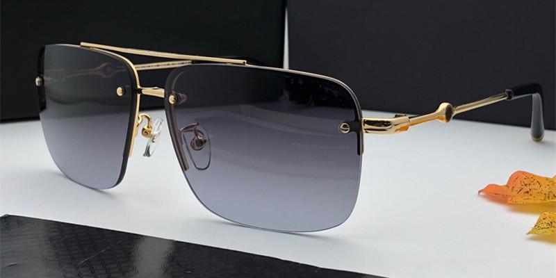 e4c15e5e0 Compre Novo Luxo Mens Moda Óculos De Sol 800 Quadrado Metade Do Quadro De  Negócios Óculos De Condução Designer Óculos De Proteção Ao Ar Livre Popular  Uv400 ...