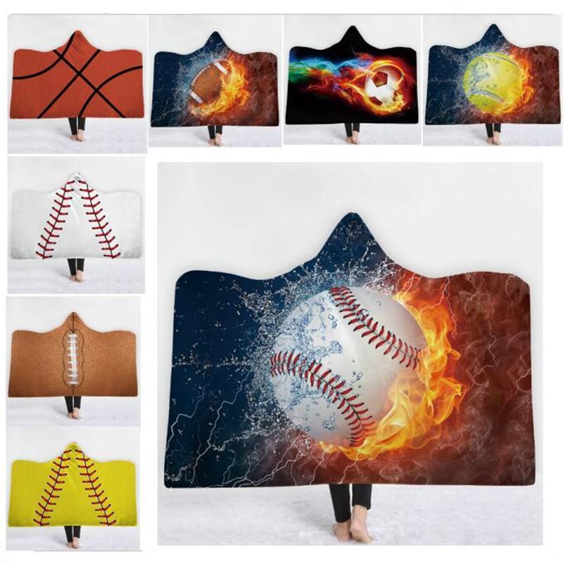 Großhandel Baseball Football Sherpa Handtuch Umhang Decke Sport