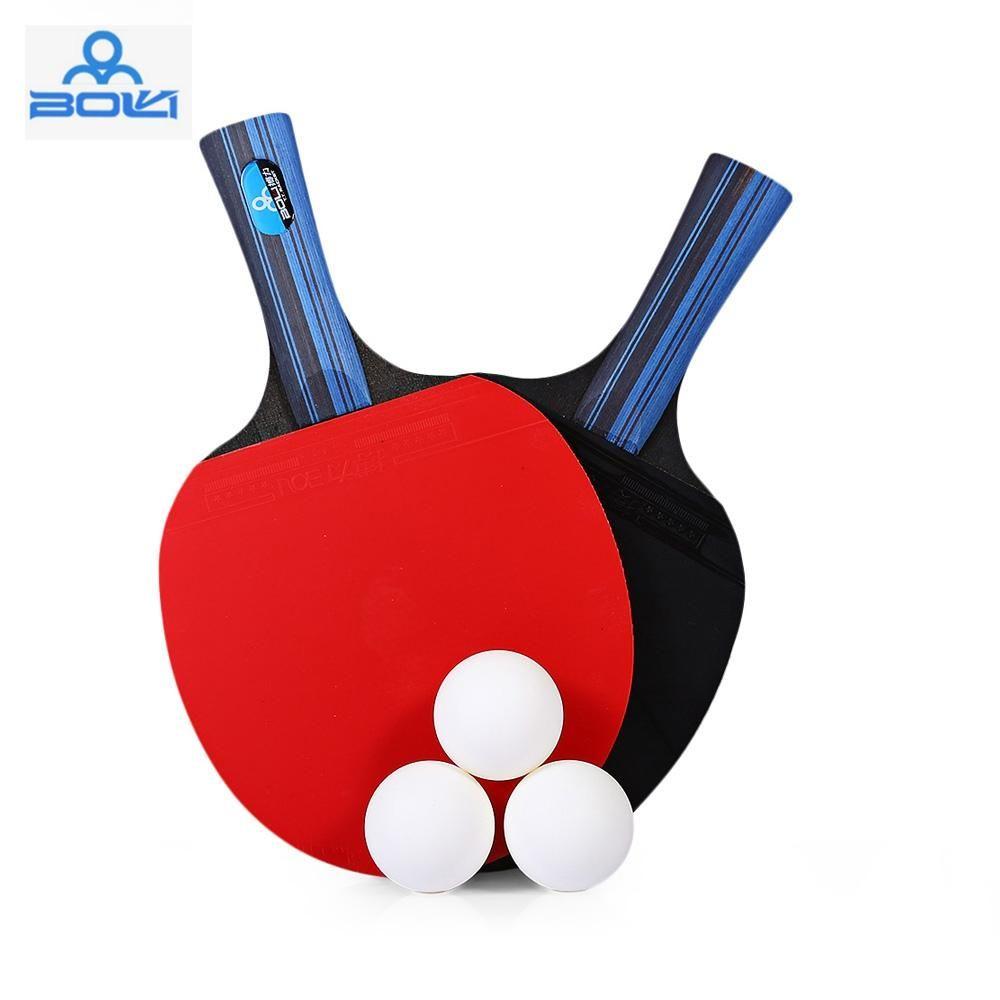 BOLI / Set Table Tennis Ping Pong Racket Long Handle Or Short Handle ...