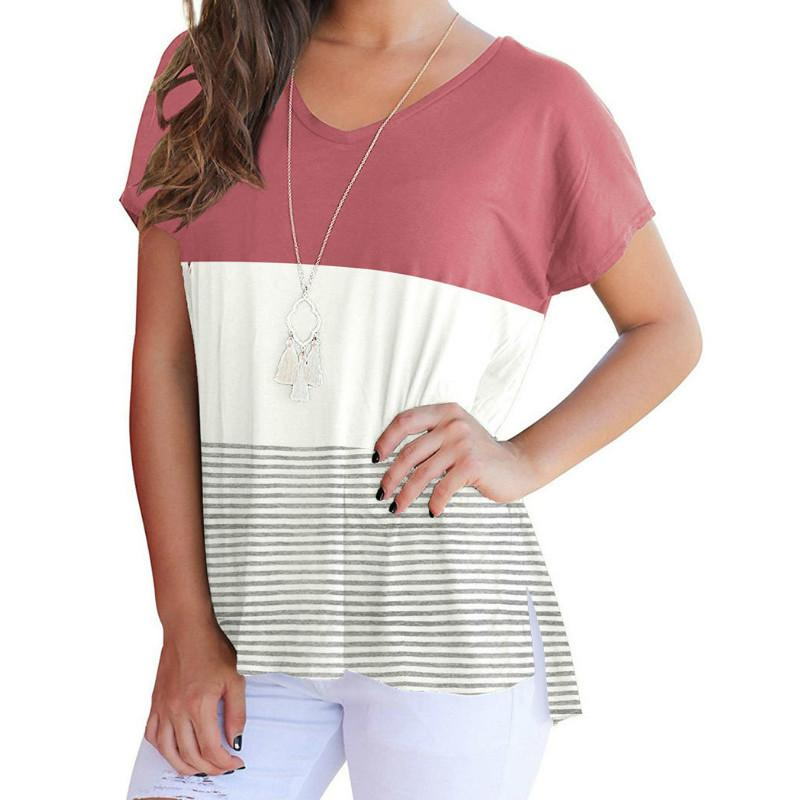 15ffef54708 Casual All Match Girls Summer Striped T Shirts Short Sleeve O Neck Women  Tops 2018 Sexy Female Loose Tees Plus Size Tshirt GV636 Shirt T Shirt Funny  T ...