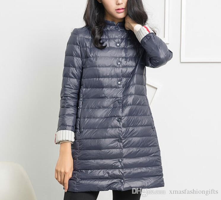 a4909900c 2018 Fashion Winter Jackets Women Lightweight Down Brand Designer Button  Ladies Jackets Warm Coat Female 412 Outdoor Coats for sale