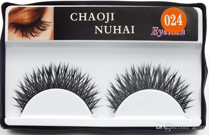 Natural false eyelashes thick false eyelash sootiness makeup studio modelling in single package