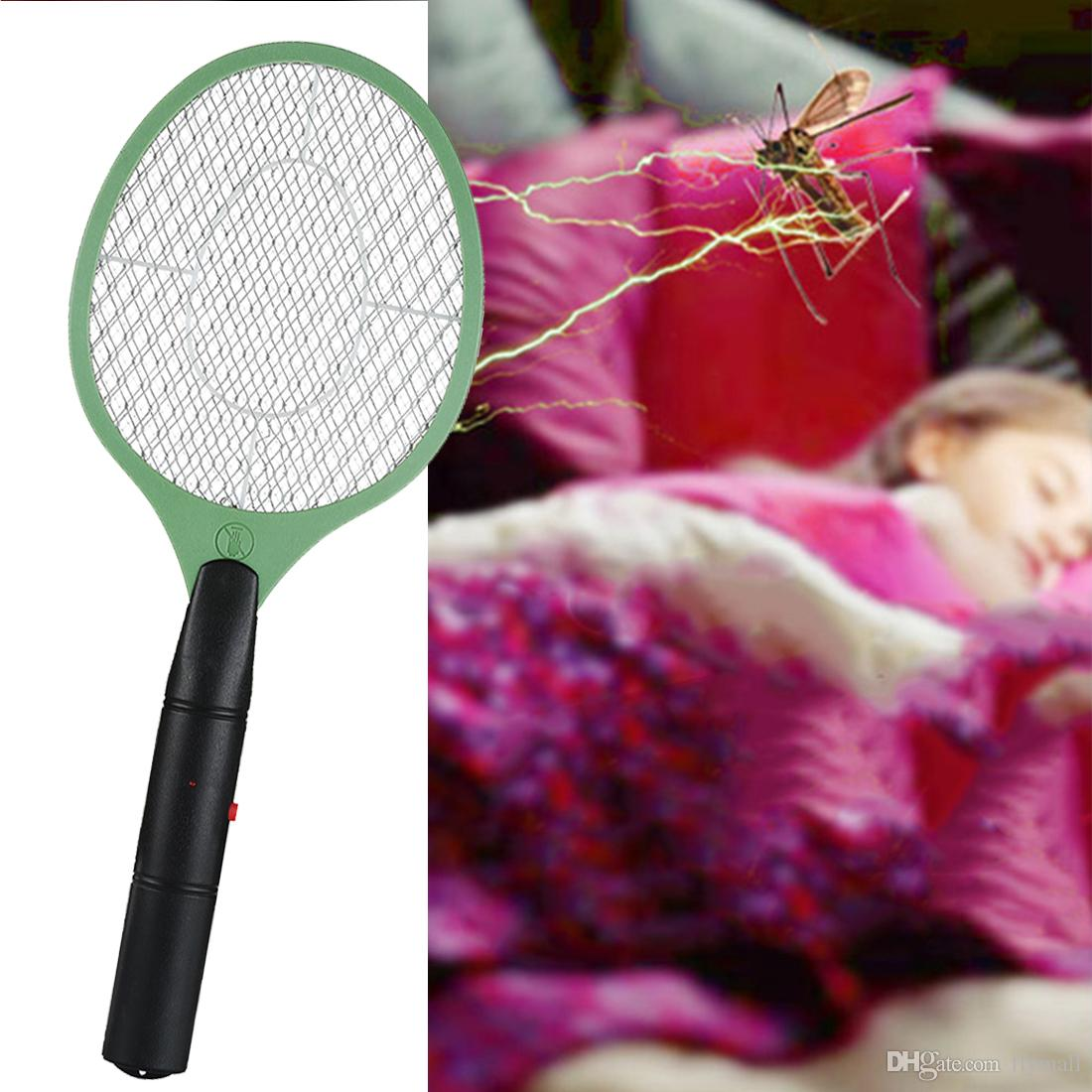 2018 2 Aa Batteries Operated Hand Racket Electric Mosquito Swatter Circuitboardinsectkillerjpg Insect Home Garden Pest Bug Fly Zapper Killer From Flymall