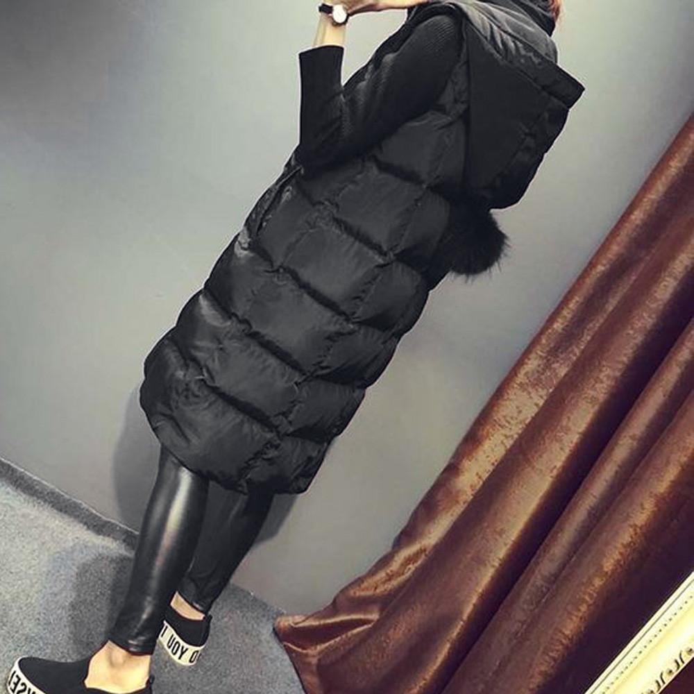 Autumn Winter Womens Waistcoat Vest Ladies Fashion Seleeveless Cotton Hoodies Trend Gilet Jacket Coat Parka Outwear Plus Size