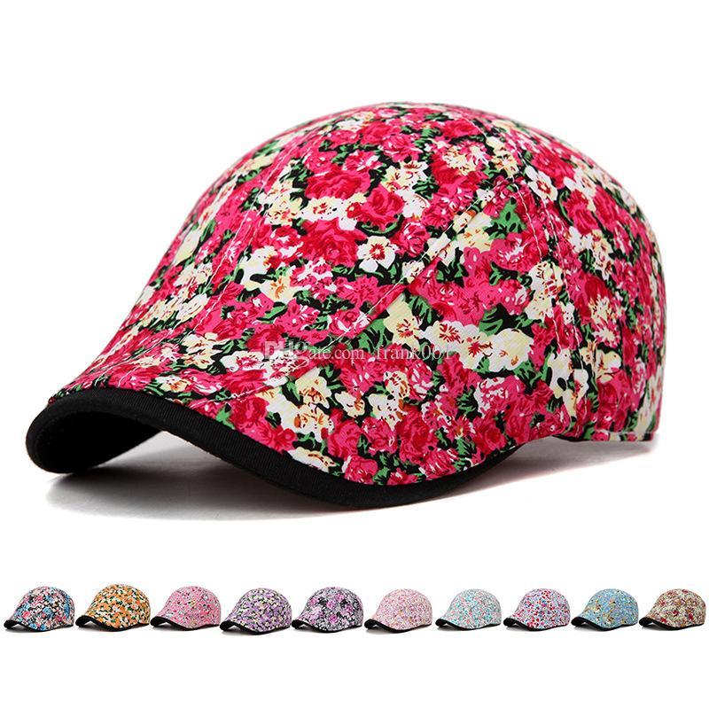fd008b717c9 New Cotton Newsboy Cap Men Women Octagonal Hat Navy Solid Spring ...