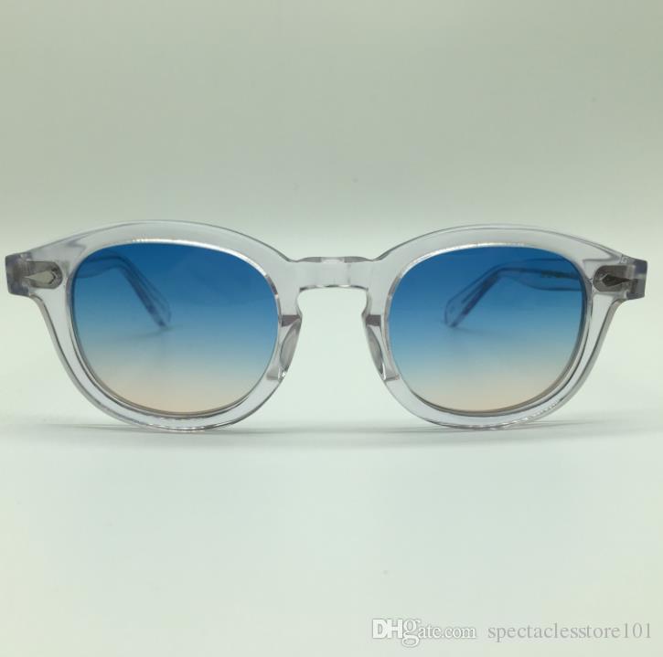 d9324f3b108 SPEIKE Customized New Fashion Lemtosh Johnny Depp Style Sunglasses AAAAA+  Quality Vintage Round Sun Glasses Blue Brown Lenses Sunglasses Heart  Sunglasses ...