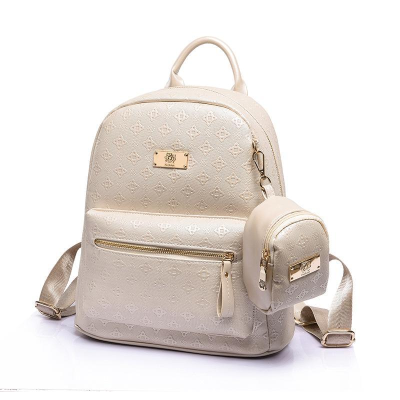 Summer New Luxury 2016 Women Backpack With Purse Bag Female PU Leather  Embossing High Quality School Bag For Teenages Travel Bag College Backpacks  Girl ... 77172f981e