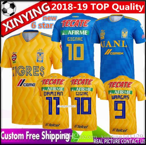 2019 FREE Ship 2018 2019 New UANL Home UNAM Tigres Soccer Jersey 18 19  GIGNAC GUERRON CHICHARITO R.MARQUEZ Away Football Shirt Mexico From  Xinying131129 c7a0ce16b