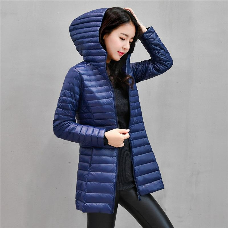 02070567ac3 2019 90% White Light Duck Down Coat Jackets Womens Winter Coat Parkas Female  Ultra Light Down Jacket Basic Coats Hooded Long Outwear From Top666, ...
