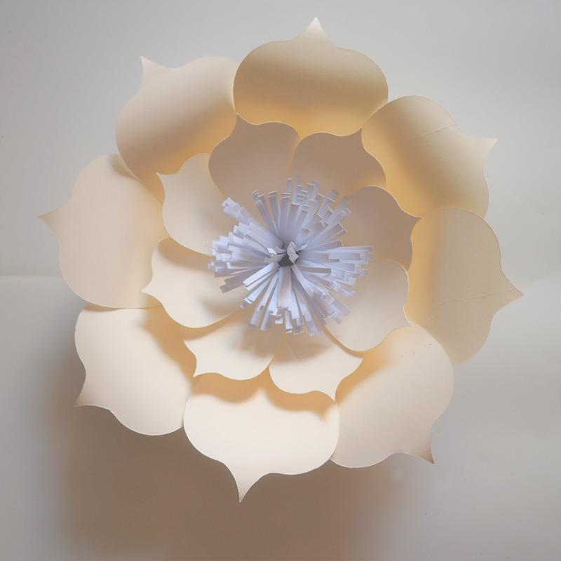 Artificial Handmade Giant Paper Flower Backdrop 1 Piece For Wedding Event Baby Nursery Decor Baby Shower Fake Flowers