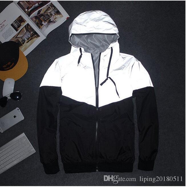 Мужчины куртка осень лоскутное светоотражающие 3 м куртка спорт хип-хоп открытый водонепроницаемый ветровка мужчины пальто тенденция Марка