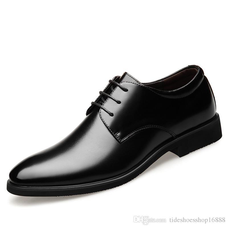 e568df9350b3c Compre Talla 47 Zapatos Formales Con Cordones De Cuero Genuino Para Hombres  Zapatos De Vestir Para Hombres Hombres De Boda Para Hombre Oxfords 2019  Hombres ...