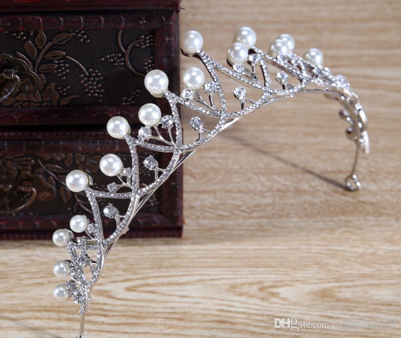 İnci elmas taç gelin gelin düğün takı süsler