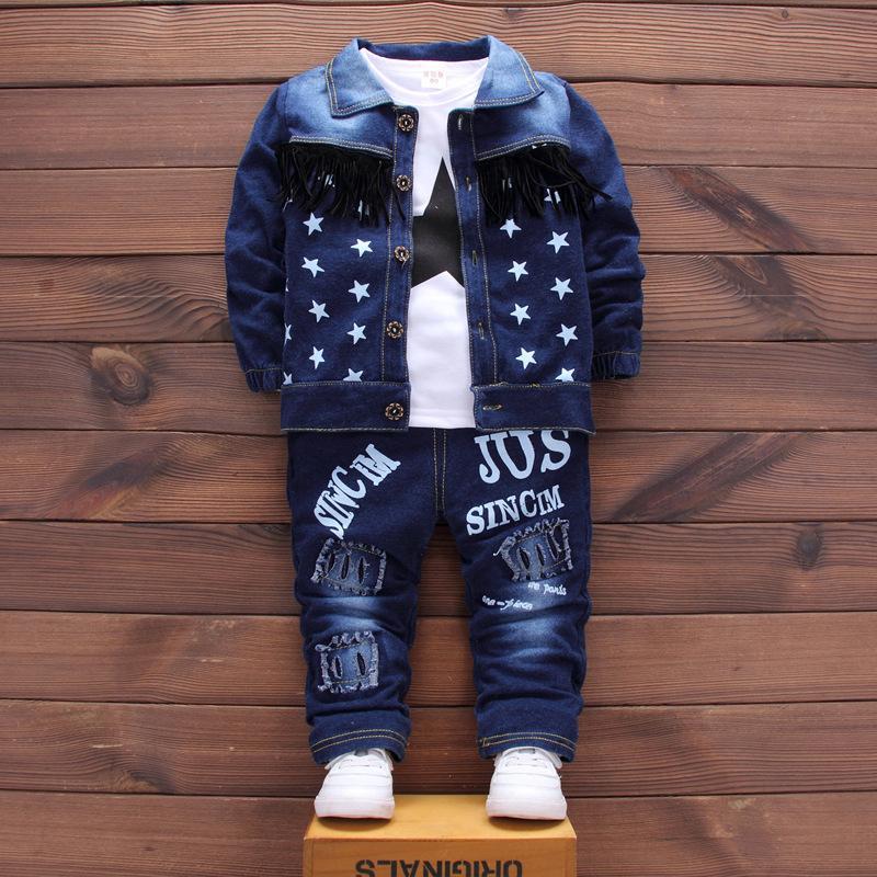 ca6fa7241 2019 Baby Boy Clothe 2018 Baby Dress Cartoon Cowboy Tracksuit Coat+ ...