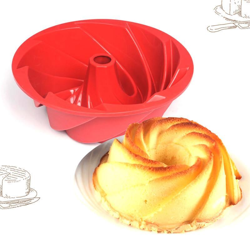 947a84257 2019 Diy Bakeware Spiral Shape Pancake Mold FDA Silicone Cup ...