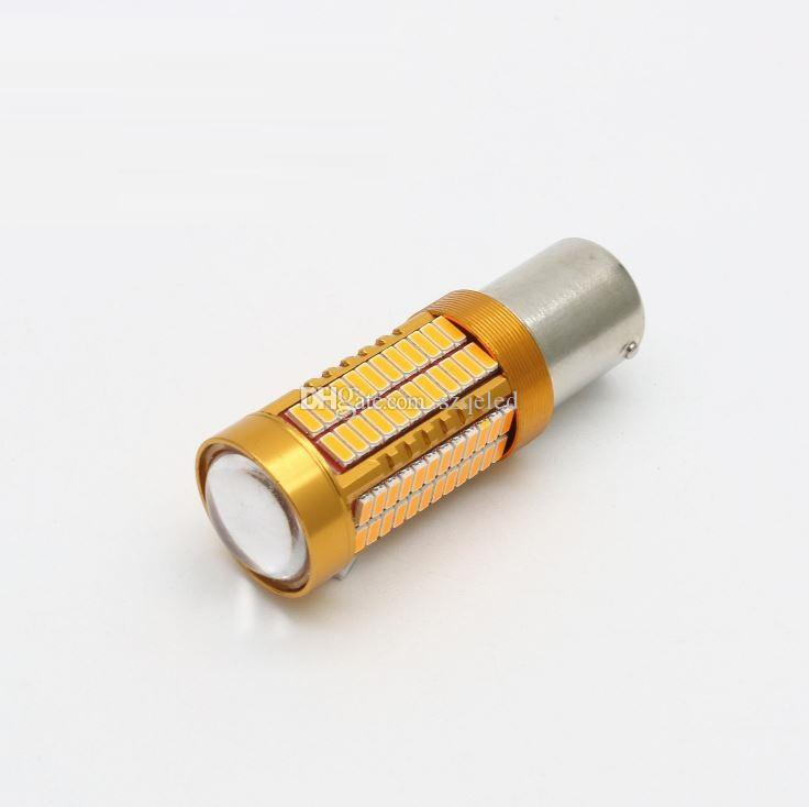 2x Super Bright 80W White T15/T20 Car Auto Bulb 12V 1156/1157 4014 Chip 106 SMD Auto LED Light Reversing Lamp Brake Light Work Lamp