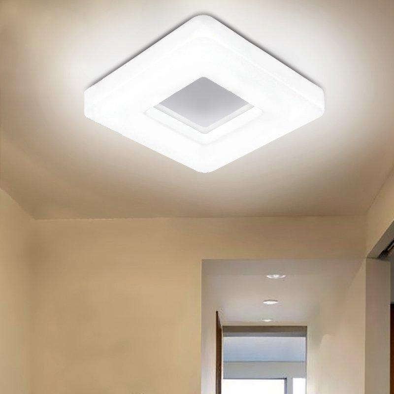 Modern White Acrylic LED Square Bedroom Ceiling Lamp Simple Design Balcony  Ceiling Light Living Room Lighting Fixtures