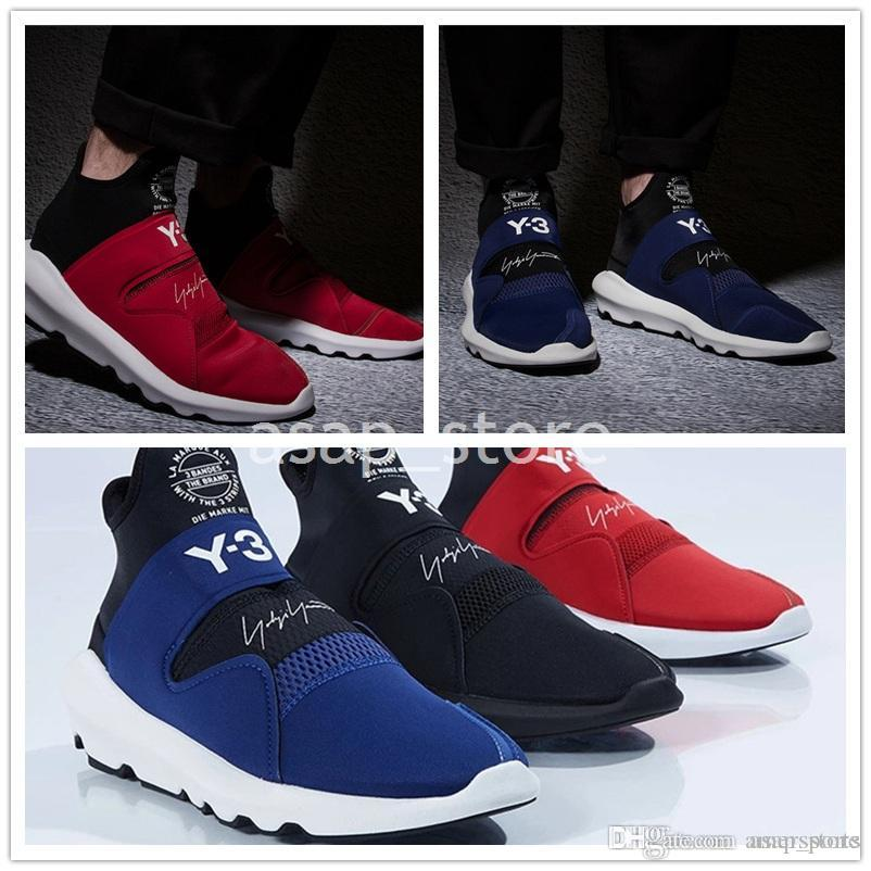 e89a26673 New High Quality Y 3 Suberou Mens Womens Slip On Casual Shoes All Black  White Red Blue Yohji Y3 Sneakers Size 36 44 Hiking Shoes Prom Shoes From  Amersports
