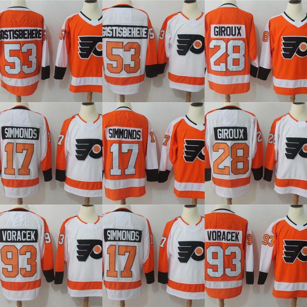 17 Wayne Simmonds 2017-2018 Season 93 Jakub Voracek 28 Claude Giroux 53  Shayne Gostisbehere Philadelphia Flyers Hockey Jerseys Philadelphia Flyers  Jersey ... eb78d113e