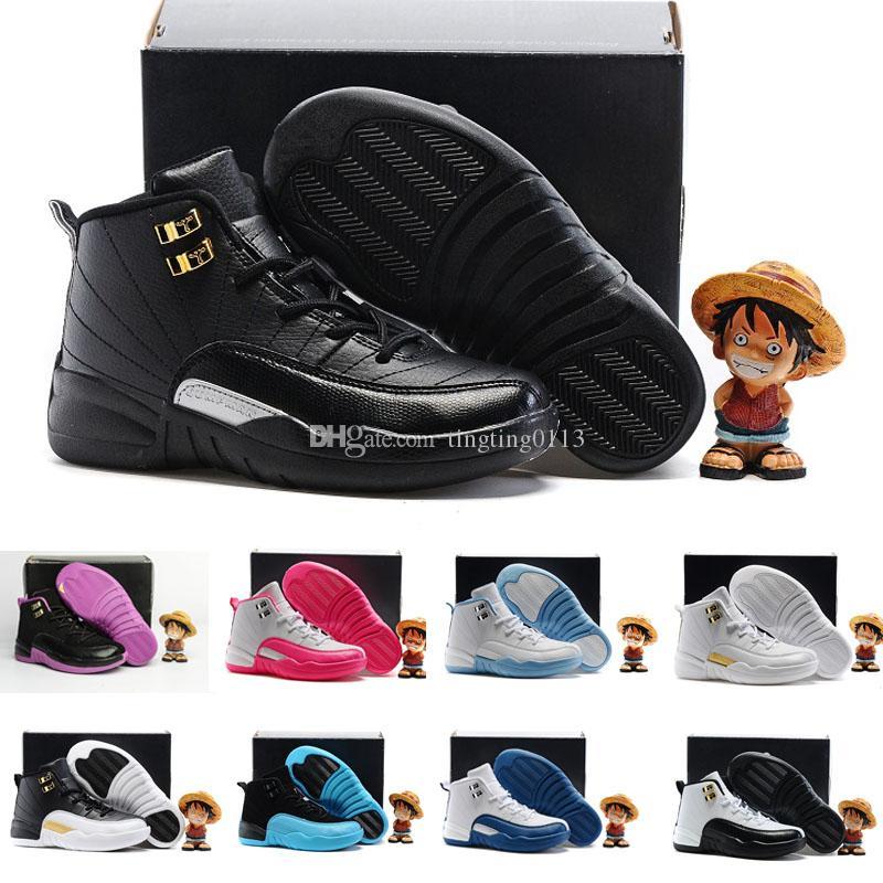 31fc42acb79e2 Acheter Nike Air Jordan 6 11 12 Retro Chaussures De Basket Ball Pour Enfants  12s Les Chaussures De Maître Pour Enfants Sneakers Garçons Filles  Chaussures De ...