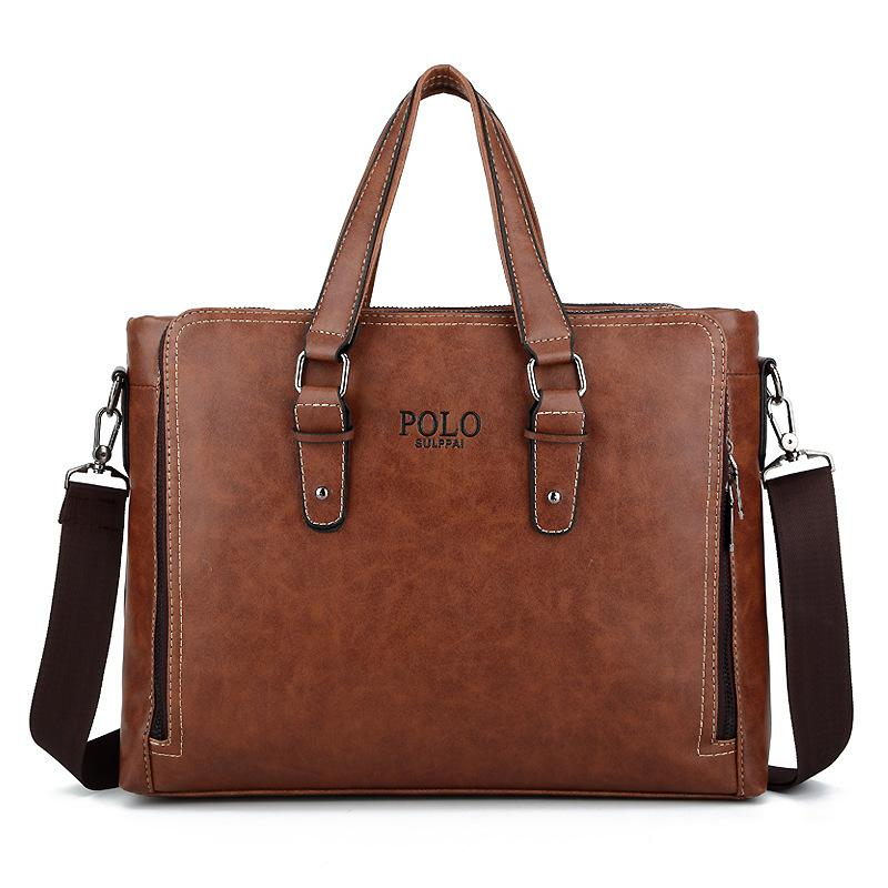 f53eae69c0 POLO SULPPAI Men's Briefcase Fashion Handbags Men Messenger Bags Business  Pu Leather Bag For A4 Documents 13 Laptop KSL717M Briefcases Cheap  Briefcases POLO ...